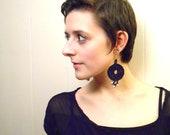 Gothic Jewelry, Black Earrings, Trendy Jewelry,  Dangle Earrings, Crochet Earrings, Crochet Jewelery