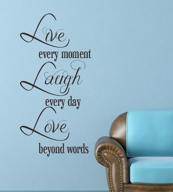 Vinyl Wall Quote Live Laugh Love Home Decor Wall by NewYorkVinyl