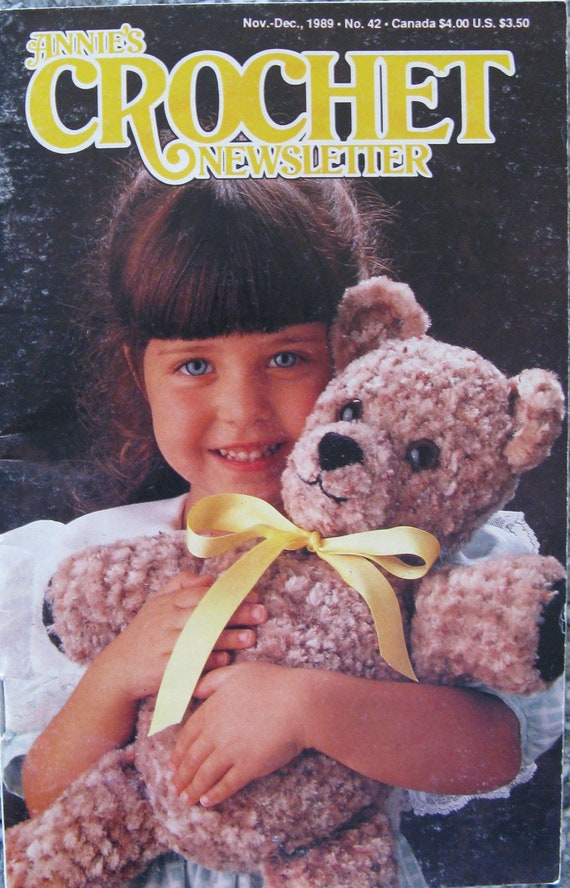 Annies Crochet Newsletter - 42 - Nov - Dec 1989 - Vintage Crochet ...
