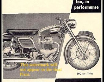 Norton Motorcycle Co. 600cc Twin,  Ad Print
