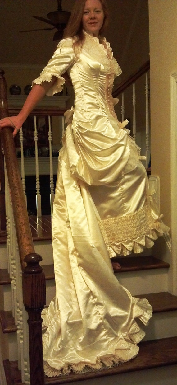 Victorian style wedding dress size 6 gorgeous by for Victorian style wedding dress