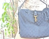 SOLD -  Vintage Gucci Bag - Black Hobo Style - Free Shipping