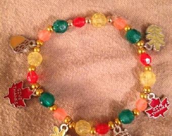 Give Thanks charm bracelet