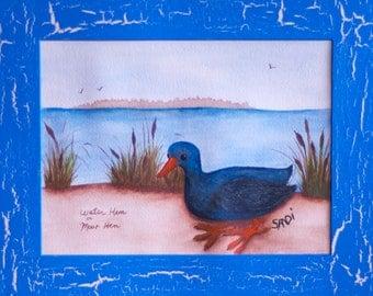 Folk Art Moor Hen