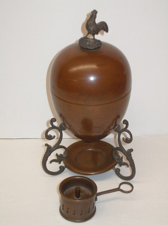 Reserve For Antiqueabode Egg Coddler Rooster Finial And