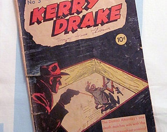 Kerry Drake No 3 Comic Book circa 1944