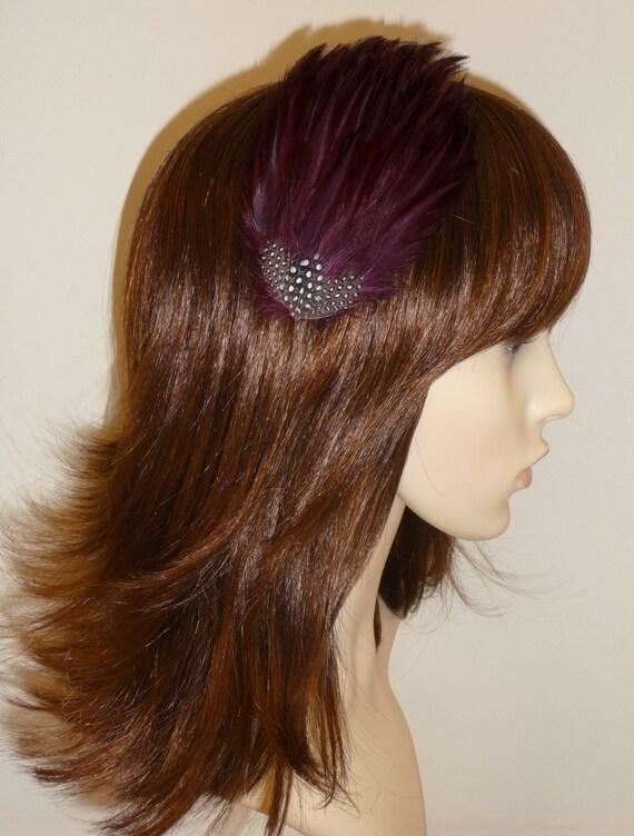 Wine Burgundy Maroon Fascinator HAIR CLIP Bridesmaids Hair