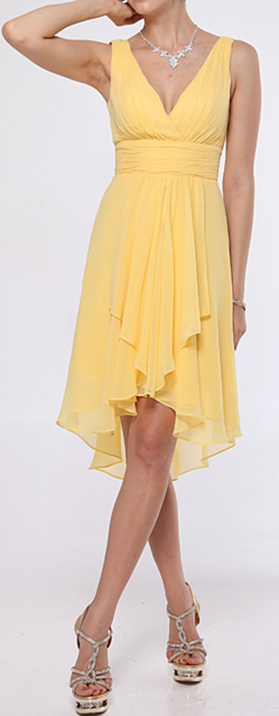 Yellow Plus Size Bridesmaid Dresses Only 33