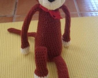Adorable brown monkey amigurumi