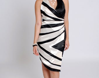 Wrap dress in stunning zebra print