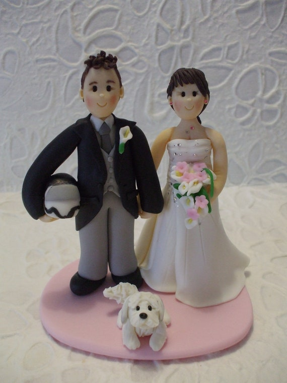 etsy wedding cake topper dog items similar to deposit and groom with wedding 14051