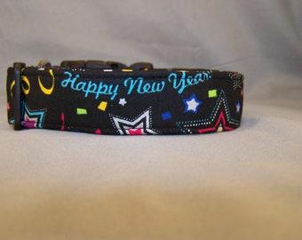 Happy New Year Dog Collar