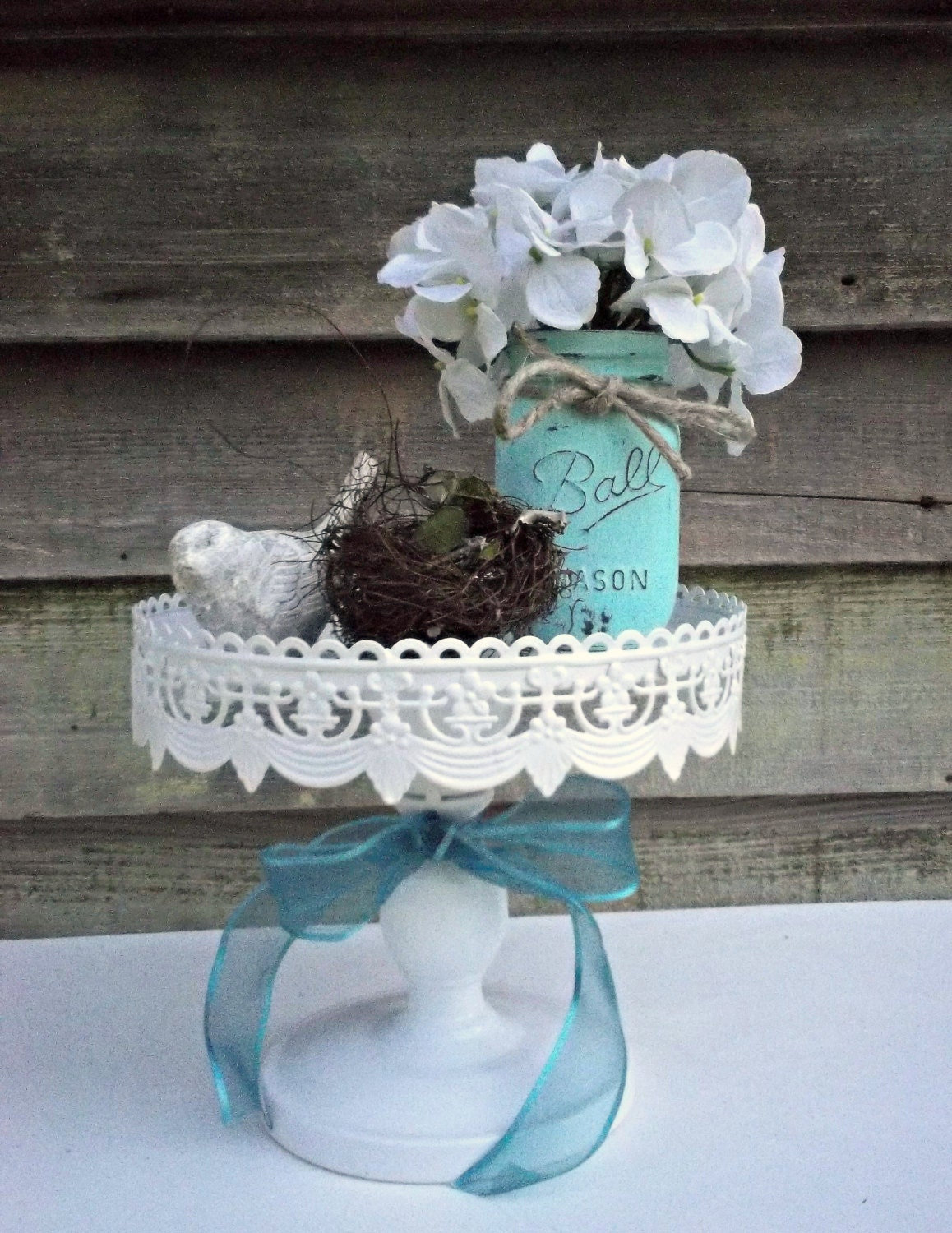 Wedding Cake Shabby Chic Vintage Style Rustic by
