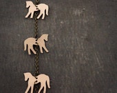 Horse Necklace/ Kraft / Durable / Hardened Paper Necklace