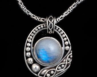 Silver Moonstone Balinese Necklace: VIOLA