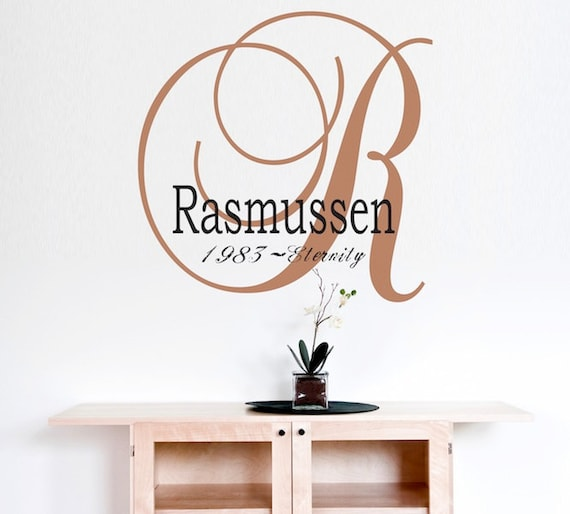 Etsy Family Wall Decor : Items similar to family wall decals personalized name