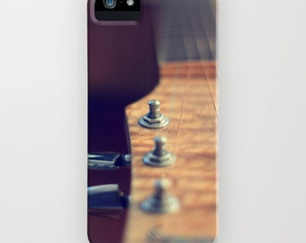 iPhone Case - 5 4 4s 3g 3gs iPod touch 5th Gen - Silent Guitar - Music -  Instrument - Bokeh - Beige
