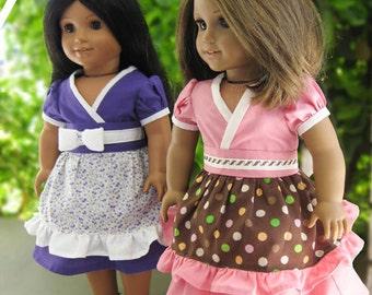 Pixie Faire Artistic Amy Kimono Dress Doll Clothes Pattern for 18 inch AG Dolls - PDF
