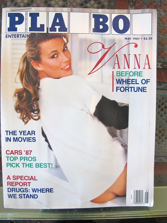 Christmas VANNA WHITE  Playboy Vintage Pin Up collectible 80s celebrity nude photograph gifts for him PJ O'Rourke wheel of fortune