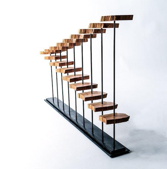 reclaimed wood sculpture on steel armature. Black Bedroom Furniture Sets. Home Design Ideas