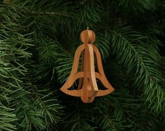 Bell 3-D Christmas Ornament - Jingle Bells, Silver Bells, Christmas Bell, Holiday Bell