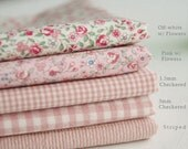 Romantic Pink Series Cotton Fabric By the Yard 5 Styles 23876