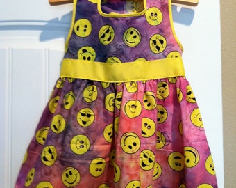 Girls Dress with Happy Face