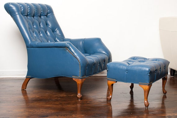 Mid Century Sleepy Hollow Armchair Lounge With Ottoman