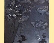 "Arthur Rackham : ""An Old Squaw Spirit"" (Rip van Winkle, 1904) - Giclee Fine Art Print"