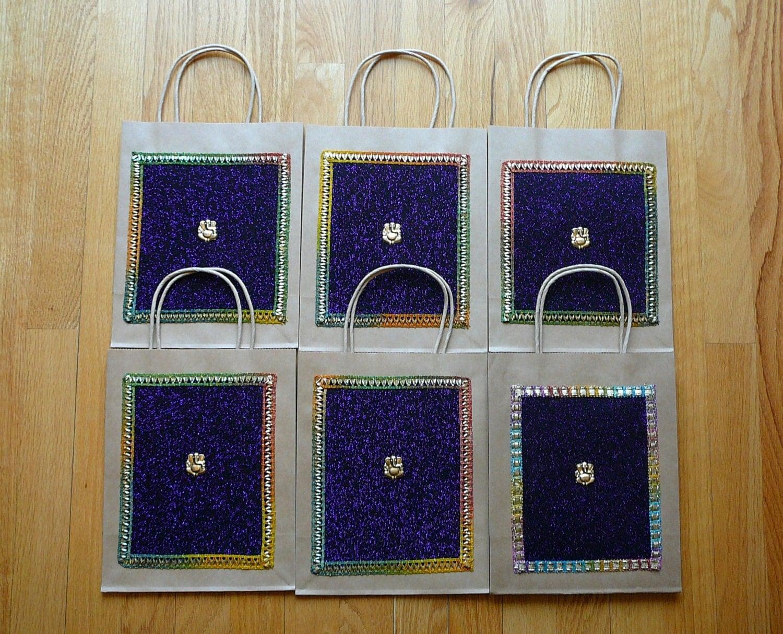 Hindu Wedding Gift Bags : Gift Bags Indian Wedding Gift Bags Kraft Gift Bags Handmade