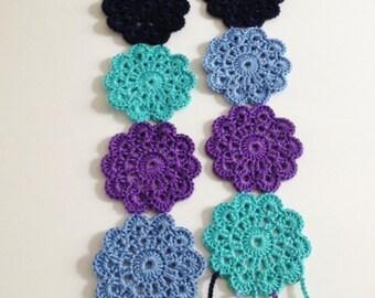 Blue coasters crochet summer scarf