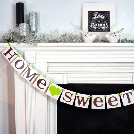 Home Sweet Home Rustic Sign / Garland / Banner / By
