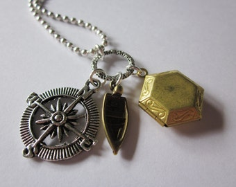 Matched Trilogy Inspired Charm Necklace