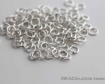 5mm Silver Plated Open Jump Rings, Pack of 200, Findings for Jewelry Making