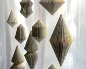 Book Art: Hanging Ornament - folded Book