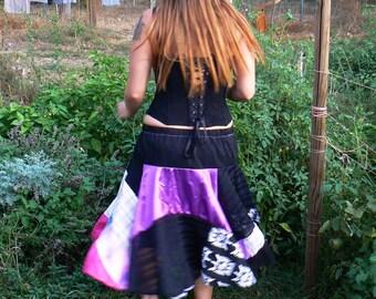 Gypsy's Caravan Patchwork Circle Skirt small-medium