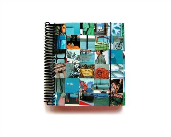 Cyan Notebook, Spiral Notebook, Fat Notebook, Diary Journal, Blank Sketchbook, Writing Journal, Cute Notebook, Spiral Bound Journal