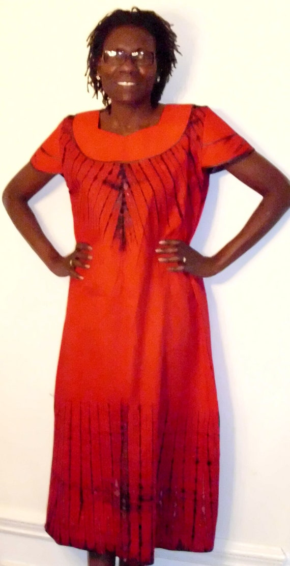 Tie Died Cotton Embroidered African Kaftan By AfricanFashions