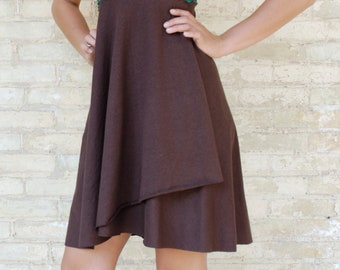 Hemp & Organic Cotton Mid Length Cap Sleeve Dress