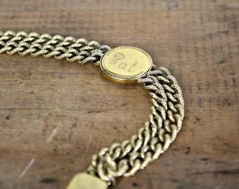 PAT Bracelet • Vintage ID Bracelet • Nameplate Bracelet • 1960s Name Bracelet • Personalized Bracelet • Engraved Bracelet • Spediel Bracelet
