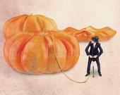 Food photography, Fine art photograph, Pumpkin, Halloween, Orange decor, October