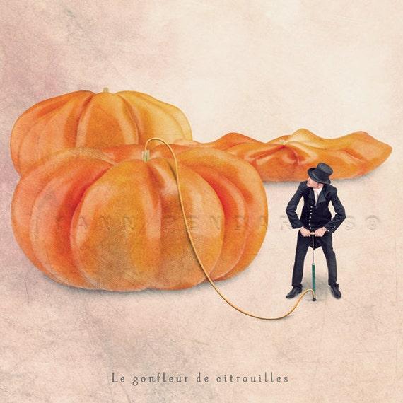Halloween pumpkin print, Food photography, Autumn photography, Kitchen art, Orange decor, wall art, October trends