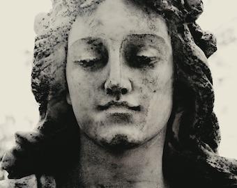 8x12 Rose Angel, Cemetery Art, Halloween Photography