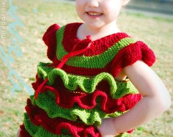 Crochet Shirt Pattern - Crochet Christmas Petti Romper Type Shirt - Baby, Child, Custom Sizes - PDF PATTERN - Instant Download