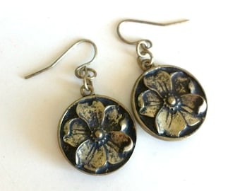 Antique Flower Earrings