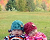 Button hats for babies - buy two and save - perfect for photo prop
