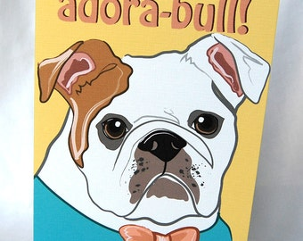 Adorable Bulldog Greeting Card