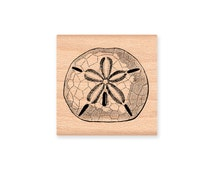 SAND DOLLAR Rubber Stamp~Two sizes Large or Small~DIY Ocean Natical Decor Crafting~wood mounted rubber stamp(sku# 22-12SM)(sku #40-20LG)
