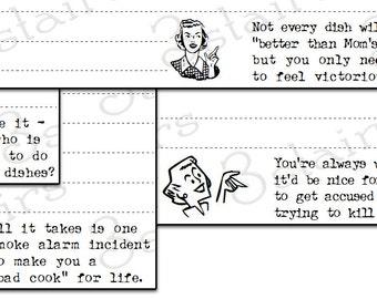 Funny Retro Recipe Cards