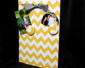 Classroom Organizer Magnetic Board Chevron Yellow Wall Hanging